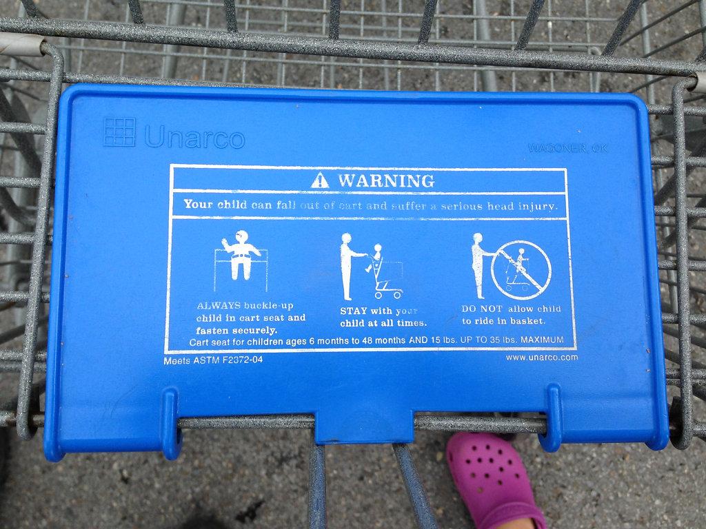 Shopping Cart Warning